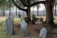 Vecchia terra seppellente, massacro di Deerfield, Deerfield Massachussets, 2014 Immagini Stock Libere da Diritti