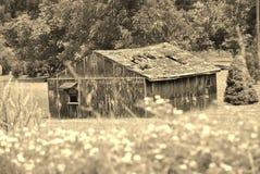 Vecchia tettoia abbandonata Fotografie Stock