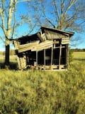 Vecchia tettoia a colori fotografia stock