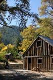 Vecchia tettoia della fattoria Fotografia Stock
