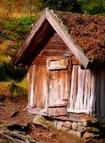 Vecchia tettoia di stoccaggio dell'azienda agricola Fotografia Stock