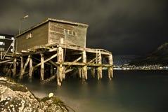 Vecchia tettoia in Tromsø Fotografia Stock