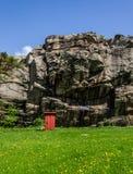 Vecchia toilette all'aperto Fotografia Stock