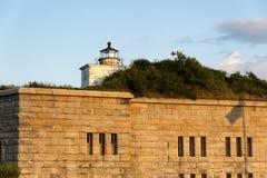 Vecchia torre del faro su Taber forte Fotografie Stock