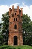 Vecchia torre dell'allerta del castello Immagine Stock