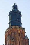 Vecchia torre della chiesa a Wroclaw, Polonia Fotografia Stock Libera da Diritti