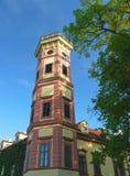Vecchia torre della costruzione alla repubblica Ceca di Hermanuv Mestec Immagine Stock