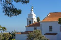 Vecchia torre di chiesa a Lisbona Fotografia Stock Libera da Diritti