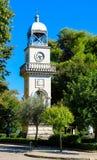 Vecchia torre di orologio di Giannina, simbolo della città Regione di Epiro, Grecia fotografia stock
