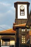 Vecchia torre di orologio di legno Fotografia Stock