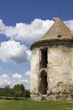 Vecchia torre medievale al castello di Banffy Fotografie Stock Libere da Diritti