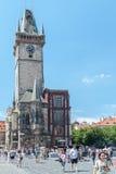 Vecchia torre quadrata, Praga, repubblica Ceca Fotografia Stock Libera da Diritti