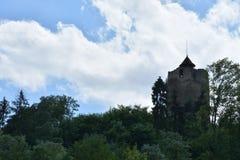 Vecchia torre storica Czchow Polonia immagini stock