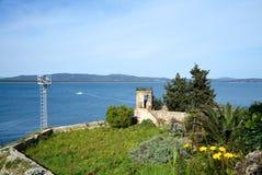 Vecchia torre sul mare Immagine Stock