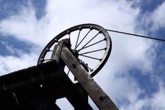 Vecchia torretta B dell'asta cilindrica della miniera di carbone Immagini Stock