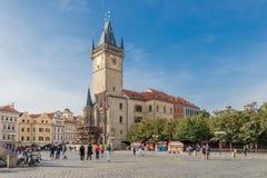 Vecchia torretta del municipio a Praga fotografia stock libera da diritti