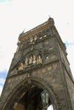 Vecchia torretta del ponticello della città Immagini Stock