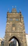 Vecchia torretta del ponticello della città, Praga, Repubblica ceca Immagine Stock Libera da Diritti