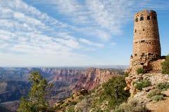 Vecchia torretta della vigilanza al grande canyon fotografia stock libera da diritti