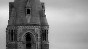 Vecchia torretta di chiesa Fotografie Stock