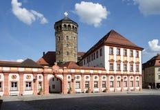 Vecchia torretta di chiesa e del palazzo Fotografia Stock Libera da Diritti