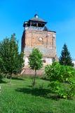 Vecchia torretta di chiesa ortodossa un giorno di estate Fotografia Stock