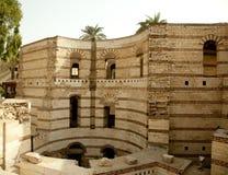 Vecchia torretta romana di Babylon nella regione copta di Cairo Immagini Stock Libere da Diritti