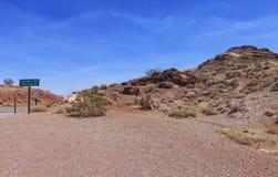 Vecchia traccia dello Spagnolo a Death Valley, U.S.A. fotografia stock libera da diritti