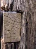 Vecchia trave di legno Fotografia Stock Libera da Diritti