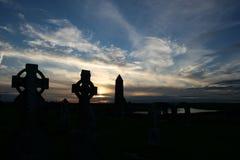 Vecchia traversa celtica irlandese antica immagini stock libere da diritti