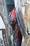 Vecchia trazione di carta a partire dalla parete Immagini Stock Libere da Diritti
