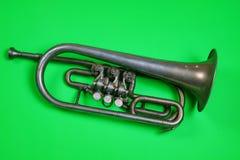 Vecchia tromba d'argento fotografie stock libere da diritti