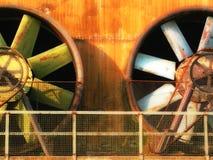 Vecchia turbina di vento Fotografia Stock Libera da Diritti