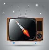 vecchia TV illustrazione di stock