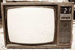 Vecchia TV Immagine Stock