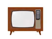 Vecchia TV Fotografie Stock