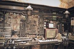 Vecchia TV, chip Immagini Stock