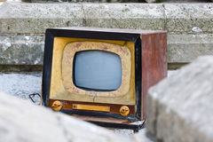 Vecchia TV, retro colori di stile Fotografie Stock