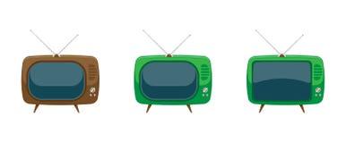 Vecchia TV stabilita Illustrazione piana EPS10 di vettore Fotografia Stock