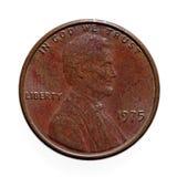 Vecchia una moneta del centesimo Fotografia Stock Libera da Diritti