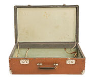 Vecchia valigia aperta Fotografie Stock Libere da Diritti