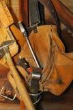 Vecchia valigia attrezzi dei carpentieri Fotografia Stock