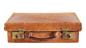 Vecchia valigia di cuoio Immagini Stock Libere da Diritti