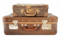 Vecchia valigia di viaggio Fotografie Stock