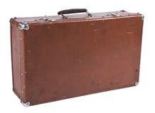 Vecchia valigia isolata su bianco Fotografia Stock Libera da Diritti