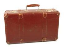 Vecchia valigia marrone Fotografia Stock Libera da Diritti