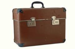 Vecchia valigia marrone Immagine Stock