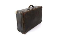 Vecchia valigia marrone per la corsa Immagini Stock Libere da Diritti