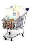 Vecchia valuta europea Fotografia Stock Libera da Diritti