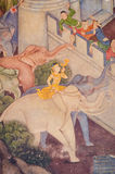 Vecchia vernice dell'oro dell'elefante sul portello del tempiale Fotografia Stock Libera da Diritti